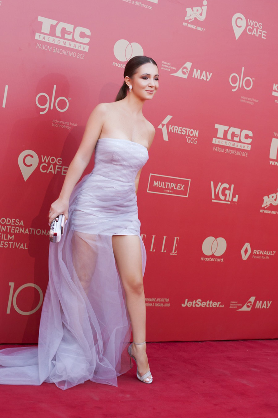 Elvira Gavrilova, walking the red carpet of the Odessa International Film Festival